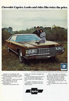 Vintage Advertising For The 1971 Chevrolet Caprice Automobile Chevrolet Caprice, Chevrolet Bel Air, Chevrolet Auto, Vintage Advertisements, Vintage Ads, American Auto, Car Brochure, Car Advertising, Chevy Impala