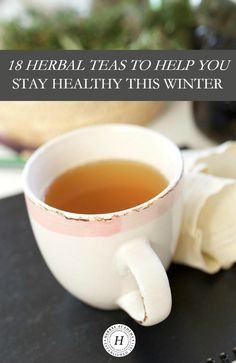 Stay Healthy With 18 Herbal Teas This Winter! It can be a challenge to keep our bodies healthy in the winter season. Learn about useful herbal actions for supporting winter health plus find recipes for 18 delicious herbal teas to help you stay healthy and strong!