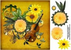 8x8 Music And Flowers Steampunk