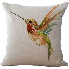 ChezMax Linen Blend Ink Painting Birds Pattern Cushion Cover Cotton Pillowslip Square Decorative Throw Pillow Case 18 X >>> You can find out more details at the link of the image. (This is an affiliate link) Decorative Pillow Cases, Throw Pillow Cases, Pillow Covers, Ink Painting, Fabric Painting, Painting Burlap, Bird Pillow, Cushion Pillow, Personalised Cushions