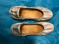 Tieks Shoes, Loafer Flats, Blue And Silver, Paradise, Size 10, Pairs, This Or That Questions, Ambition, Color Blue