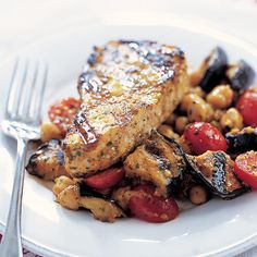 Grilled Swordfish with Eggplant Salad Recipe - Cooks Country