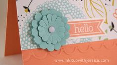 Scallop Circle Flower A Sweet Little Hello Note Card