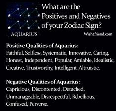 Find Positives and Negatives of your Zodiac Sign- Aquarius