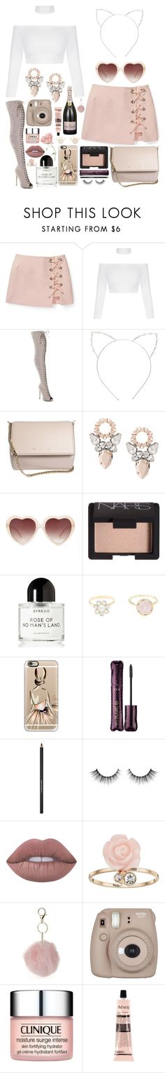 """Scream Queen"" by kylen91 ❤ liked on Polyvore featuring Rebecca Minkoff, SpyLoveBuy, Cara, Givenchy, Forever 21, NARS Cosmetics, Byredo, Charlotte Russe, Casetify and tarte"