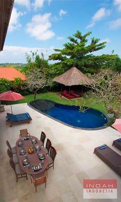 Villa Buddha Hill - View on Pool Area