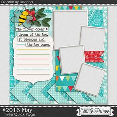 FREE Project 2016 May Quick Page Freebie By Deanna from Connie Prince