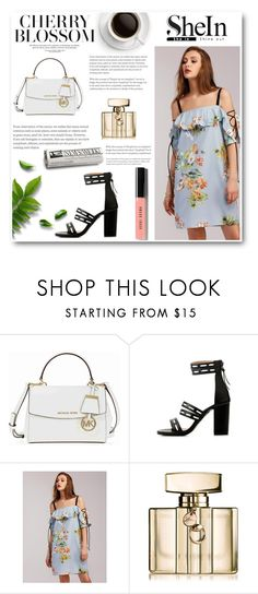 """""""Shein"""" by dajana-miletic ❤ liked on Polyvore featuring Michael Kors, Gucci and Bobbi Brown Cosmetics"""