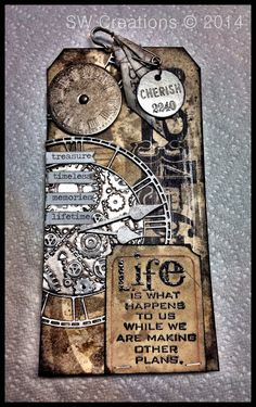Tim Tag Jan 2014by Creative Chaos: 12 Tags of Tim Holtz - January 2014