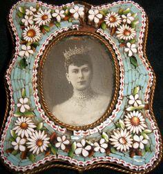 Micro Mosaic Vintage Frame Nice But w Some Damage NR | eBay