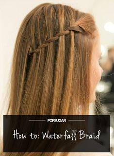 How awesome is this waterfall braid tutorial from PopSugar? Smooth? Check. Sleek? Check. On Trend? Check check check!