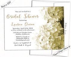 Hydrangeas wedding Shower invitation/Hydrangea by CupidDesigns
