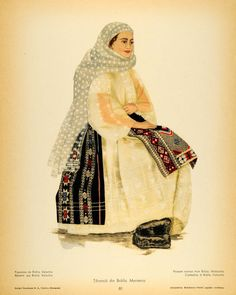 Brăila, Wallachia Traditional Dresses, Traditional Art, Popular Costumes, Folk Embroidery, Embroidery Patterns, Medieval Clothing, Folk Costume, My Heritage, San Jose
