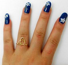 Harry Potter Ring  deathly hallows Ring  teen by WireBoutique2012,