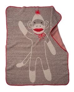 Sock monkey blankie