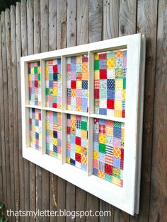 Sew: quilt window art An old window serves as the perfect frame for a quilt: I made the quilt pieces to fit the window panes using 2″ strip piecing for 1 1/2″ finished squares: But you could just as easily use an old quilt or portions of a damaged vintage quilt to create the same... Read more