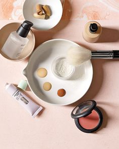 Wonderful makeup tips for Weddings & events~ all great tips but I especially love step 2; avoid shimmering foundations and SPF foundations for photos, the white light from the camera casts an opaque hue. SPF scatters light rays so it's only natural that you lose color placement on the face making contoured features seem irregular and scattered as well. Matte finishes are always safe.