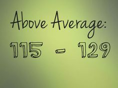 Above Average: 115 - 129