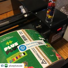 Excited to be partnering with #plusplususa #Repost @plusplususa with @repostapp.  #PlusPlus tubes are in production! Thanks to @frontierlabel for the fast great work. Time to warm up the labeling machine!