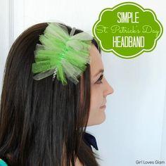 DIY St. Patrick's  : DIY Simple St. Patrick's Day Headband