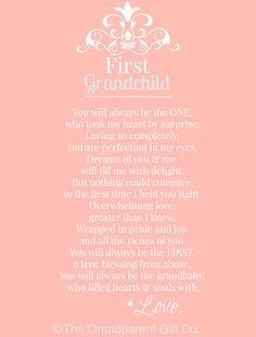 First Grandchild Poem, The Grandparent Gift Co.