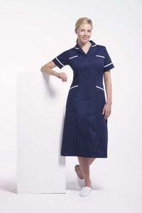 Nurse Uniform Modern Female Dress Navy Blue
