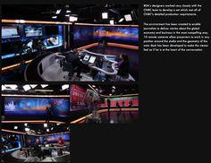 CNBC Tv Set Design, Global Economy, Remote, Darth Vader, Sport, Studio, Deporte, Sports, Studios