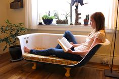Your quirky couch is now ready for reading, sipping your morning coffee, or catching up with a friend!
