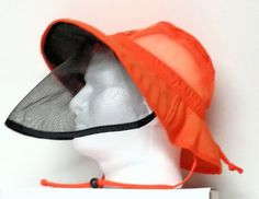 Orange-Nylon-Hat-Adj-Face-Mesh-DeKalb-Detassel-Cap-Hunting-Halloween-Golf-Bugs