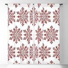 Christmas vintage design with mandala snowflakes Blackout Curtain Blackout Windows, Blackout Curtains, Window Curtains, Curtain Rods, Vintage Designs, Vintage Christmas, Snowflakes, Mandala, Throw Pillows