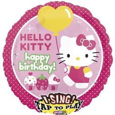 Single Source Party Supplies  28 Singing Hello Kitty Birthday Mylar Foil Balloon by Single Source Party Supplies -- For more information, visit image link.Note:It is affiliate link to Amazon.