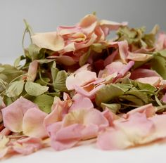 Pink Blush Lydia Rose & Green Hydrangea flower petals for throwing
