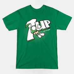 #Nintendo: Mario Bros. 1 Up mushroom / 7 Up: logo mashup t-shirt.