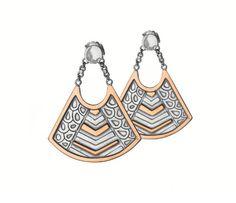 Azza Fahmy NeoTribal Basket Earrings