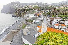 View on small fishing village  Camara de Lobos near Funchal on south coast of Madeira island. Portugal. Europe.