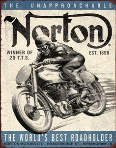 Plaque métal Norton Winner #decoration #retro #plaque
