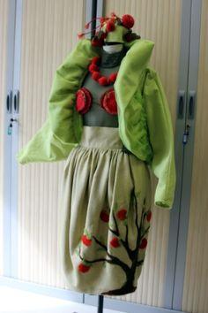 """""""Indian Summer"""", par Birute, élève de la Dressmaking and Service Business School de Klaipeda (Lituanie) partenaire du lycée"""