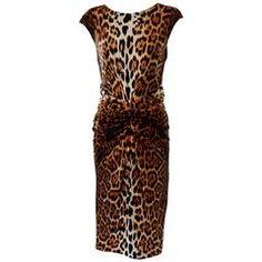 Christian Dior Leopard Cocktail Dress