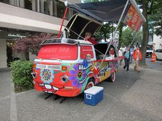 VW bus conversion to food truck by Stephen Rees, via Flickr