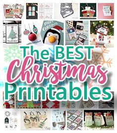 the best free christmas printables gift tags holiday greeting cards gift card holders and more fun downloadable paper craft winter freebies