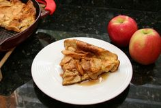Delicious Oven Baked Apple Cinnamon Pancake: A Baked Apple Pancake Pinner Apple Dutch Baby - Apple O Oven Pancakes, Baby Pancakes, Breakfast Pancakes, Waffles, Cornmeal Pancakes, German Pancakes, Pancake Muffins, Brunch Recipes, Baby Food Recipes