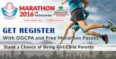 Marathon 2016.....in Vadodara...get register with ogcpa and free marathon passes.... stand a chance of being girl child parents http://ogcpa.org/