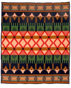 Part of the Thomas Kay collection, the Mission Mill blanket commemorates the establishment of one of the original mills by Pendleton founder Thomas L. Kay. This mill turned out the first bolt of wool fabric ever made west of the Mississippi. The play of Victorian colors and composition are a nod to the founders's English ancestry
