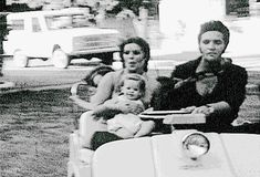 ladypresley:Elvis Presley takes his family for a golf-cart ride around Graceland, c. 1969.