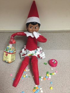 Latest Pics Awesome Elf on the Shelf Ideas for Kids - DIY Cuteness Aweso. Suggestions Awesome Elf on the Shelf Ideas for Kids – DIY Cuteness Awesome Elf on the She Christmas Elf, All Things Christmas, Christmas Crafts, Christmas Carol, Christmas Decorations, Holiday Decorating, Christmas Stockings, Awesome Elf On The Shelf Ideas, Elf On The Shelf Ideas For Toddlers