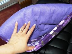 Quillow Tutorial: A fleece blanket that folds into a pocket creating a pillow! Perfect gift for the kids.