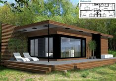 Container House - Container House - Gabriola Cottage Who Else Wants Simple Step-By-Step Plans To Design And Build A Container Home From Scratch? - Who Else Wants Simple Step-By-Step Plans To Design And Build A Container Home From Scratch? Building A Container Home, Container Buildings, Container Architecture, Prefab Homes, Modular Homes, Small House Design, Modern House Design, Minimalist House Design, Modern Cottage