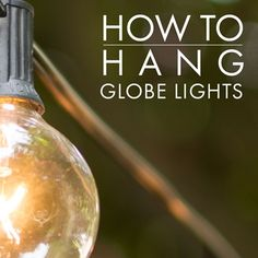 How To Hang Outdoor Globe String Lights