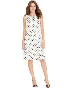 Lauren Ralph Lauren Polka-Dot Sleeveless Dress
