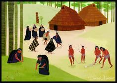 Ilustraciones Daniela Montané Trincado: ILUSTRACION CULTURA MAPUCHE Painting, Ideas, Art, Illustrations, Art Ideas, Art Background, Painting Art, Paintings, Kunst